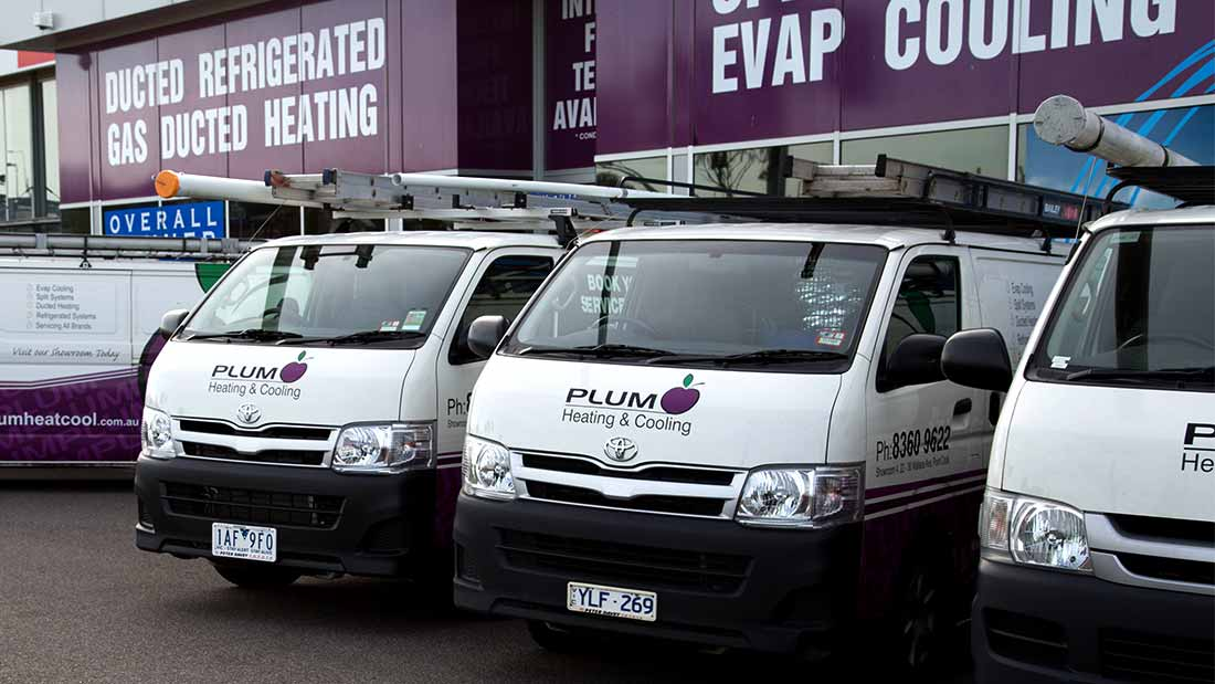 Plum Heating And Cooling Vans