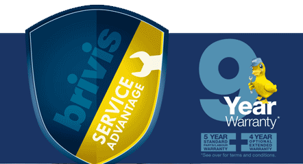 Brivis 9 Year Warranty