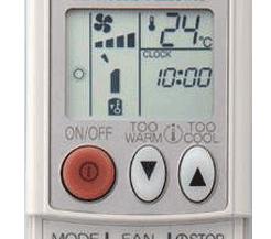 Mitsubishi aircon remote