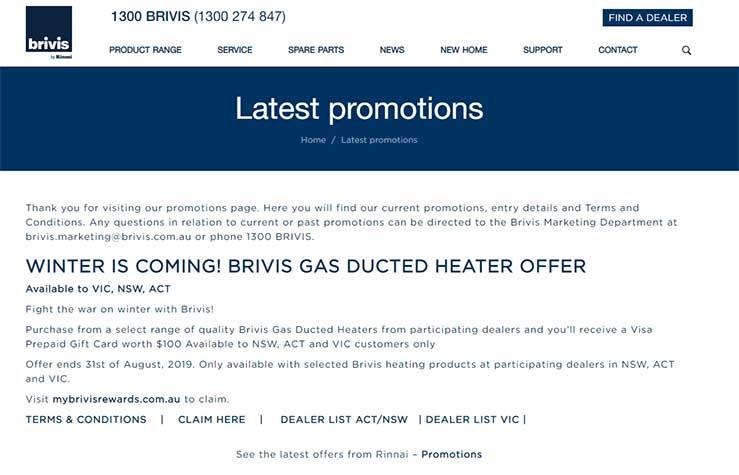 Brivis Website