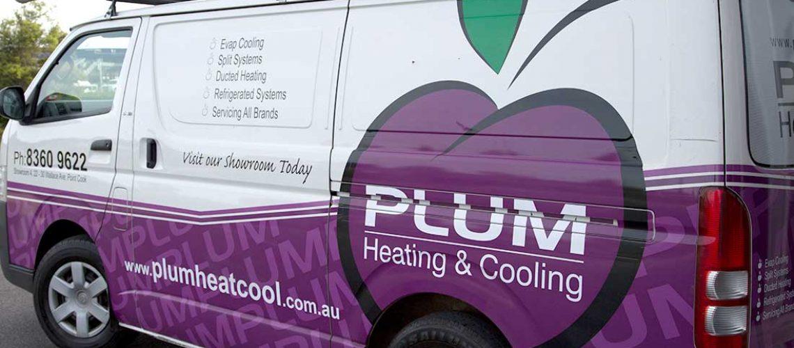 Plum Heating And Cooling Van